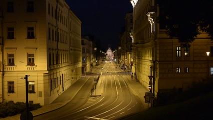 Brno city night timelapse