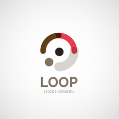 Vector abstract logo design