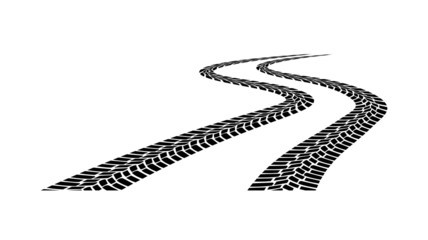 car tread silhouette on a white background