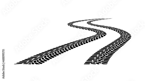 car tread silhouette on a white background - 68899570