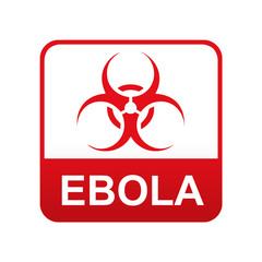 Etiqueta tipo app roja EBOLA