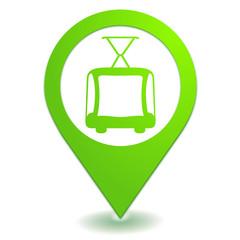 tramway sur symbole localisation vert