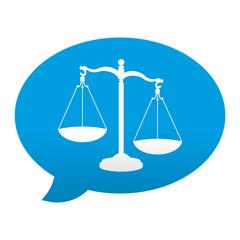 Etiqueta app comentario simbolo justicia