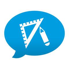 Etiqueta tipo app azul comentario simbolo dibujo tecnico