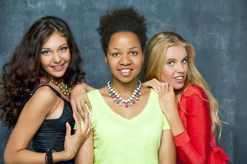 Ethnic three women face