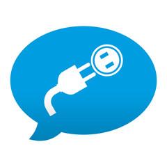 Etiqueta tipo app azul comentario simbolo instalacion electrica