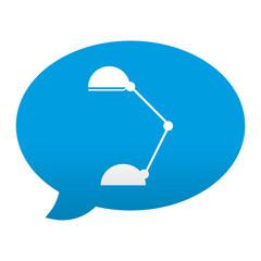 Etiqueta app comentario simbolo lampara