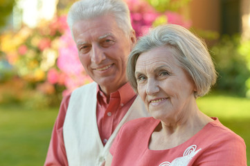 Senior couple at the resort