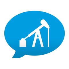 Etiqueta app comentario simbolo campo petrolifero