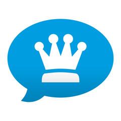 Etiqueta app comentario simbolo corona