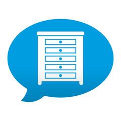 Etiqueta app comentario simbolo comoda