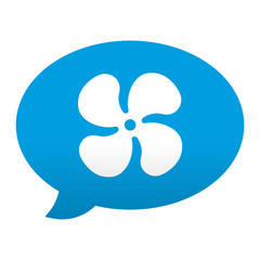 Etiqueta app comentario simbolo ventilador