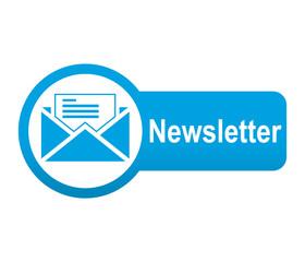 Etiqueta tipo app azul alargada Newsletter