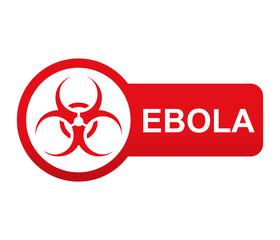 Etiqueta tipo app roja alargada EBOLA