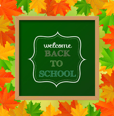 "Chalkboard sign ""back to school"""