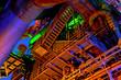 Leinwanddruck Bild - Industrie-Kultur bei Nacht