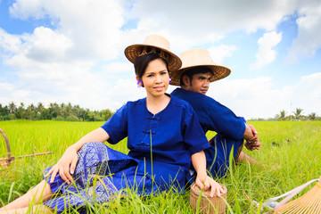 Portrait of rice farmer