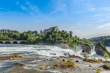 Rheinfall, Waterfall of the river Rhein at Neuhausen, Schaffhaus