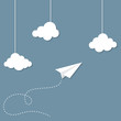 Paper plane and clouds - 68902556