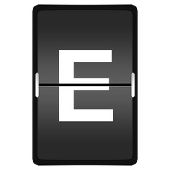 flipboard letter E from a series of Airport timetable