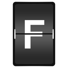 flipboard letter F from a series of Airport timetable