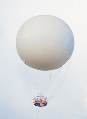 Tethered aerostat balloon. Place for text.