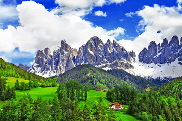 breathtaking nature of Dolomites. Italian Alps