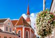 Leinwanddruck Bild - St. Elizabeth's Lutheran Church in Parnu, Estonia