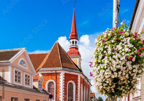 Leinwanddruck Bild St. Elizabeth's Lutheran Church in Parnu, Estonia