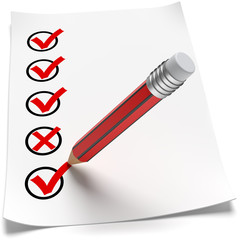 Checkliste roter Stift