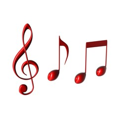 muziek noten en g-sleutel