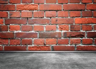 Brick wall interior