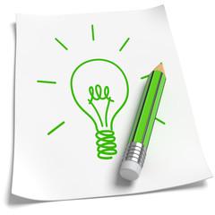Blatt Papier Idee Konzeptzeichnung,