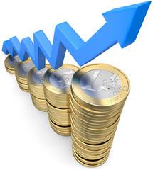 Gewinn Wachstum Euromünzen