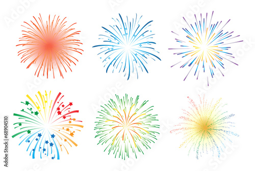 Fototapeta Fireworks display