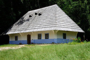 Traditional medieval Ukrainian wattle and daub house