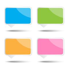 Colorful vector square bubble speech
