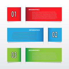 Infographics modern banner for creative work