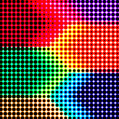 Abstract retro color halftone background