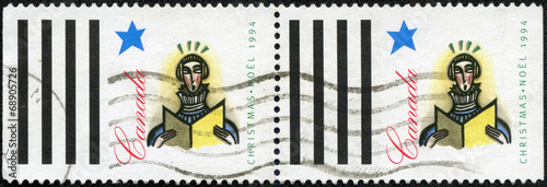 Poster stamp printed by Canada, shows Soloist