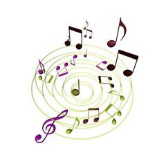Muziek wervel storm