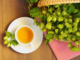 hop tea - top view