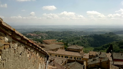 Montepulciano Tuscan Town overview, Italy