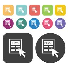 Newspaper icons set.  Illustration eps10