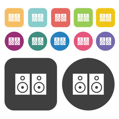 Speaker icons set.  Illustration eps10