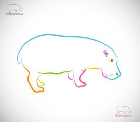 Vector image of an hippopotamus