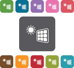 Solar energy icons set. Illustration eps10