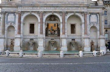 Fontana dell' Acqua Paola, dedicated to Pope Paulus V, Rome