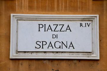 Piazza di Spagna street plate in Rome