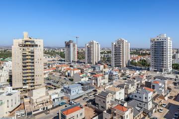 Kiryat Gat skyline view.